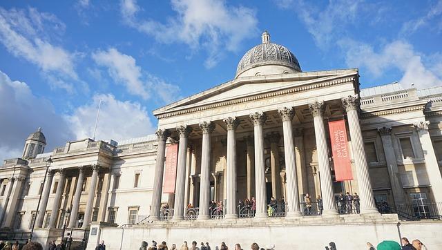 Facciata British Museum Londra